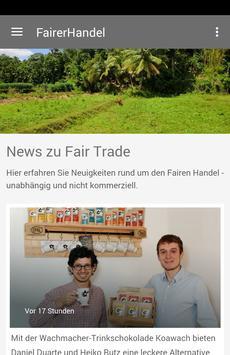 Fairer Handel Aktuell poster