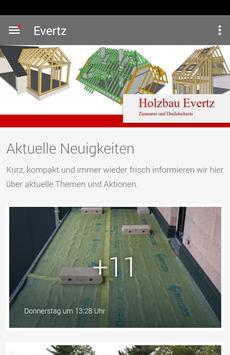 Evertz Holzbau poster