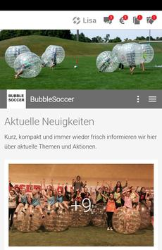 Bubble Soccer poster