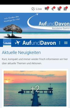 Reisebüro Auf und Davon poster