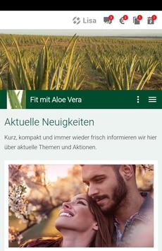 Fit mit Aloe poster