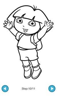 How To Draw :Dora & Diego screenshot 4