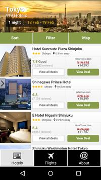 Tokyo Hotels and Flights poster
