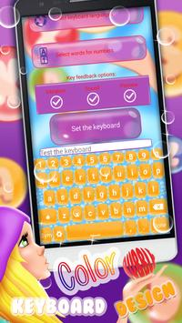 Color Bubble Keyboard Themes poster