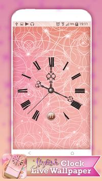 Stylish Clock Live Wallpaper poster