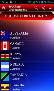 TopChord - Secular Lyrics App screenshot 1