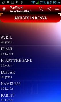 TopChord - Secular Lyrics App screenshot 2
