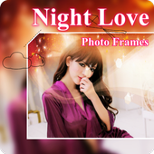 Beautiful Night Love Photo Frames Greeting Cards icon
