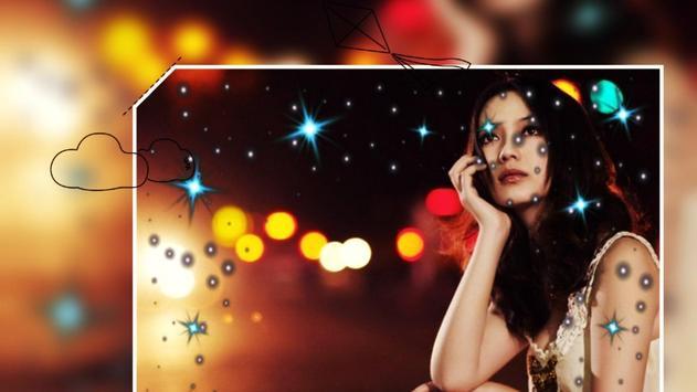 Beautiful Night Love Photo Frames Greeting Cards screenshot 3