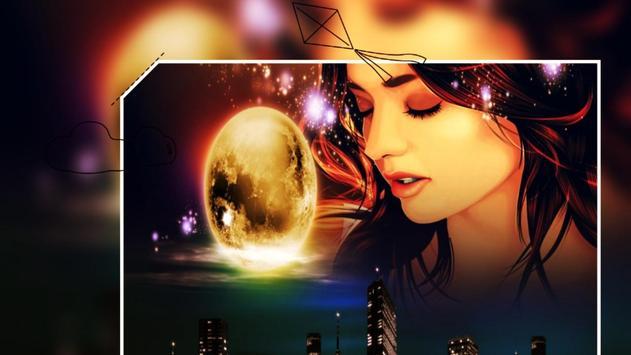 Beautiful Night Love Photo Frames Greeting Cards screenshot 5