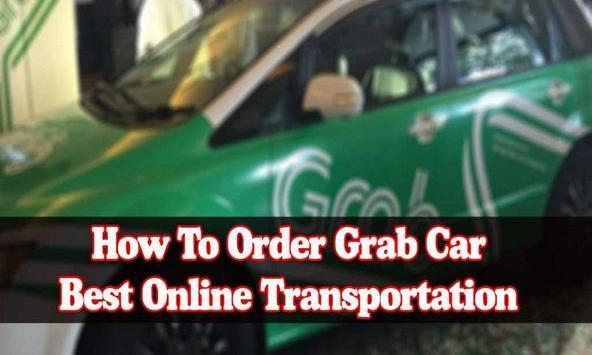 Guide Order Grab Car poster