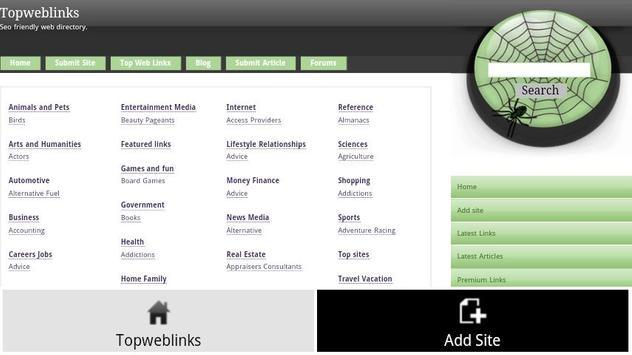 Topweblinks screenshot 1