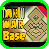 Town Hall 11 War Base Layouts icon