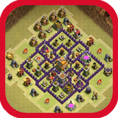 Town Hall 7 War Base Layouts icon
