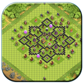 Town Hall 8 Base Layouts icon