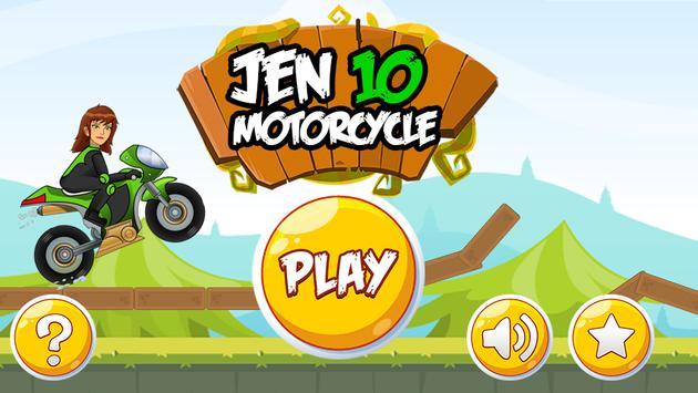 Jen 10 Motorcycle Game poster