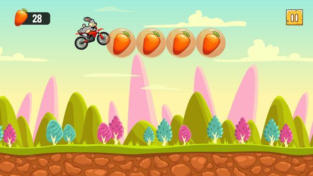 Funny Bunny Rabbit Super Motorcycle Adventures apk screenshot