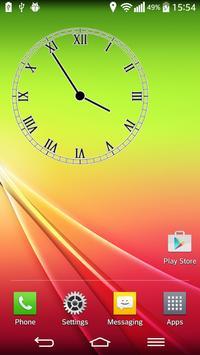 Transparent Analog Clock poster