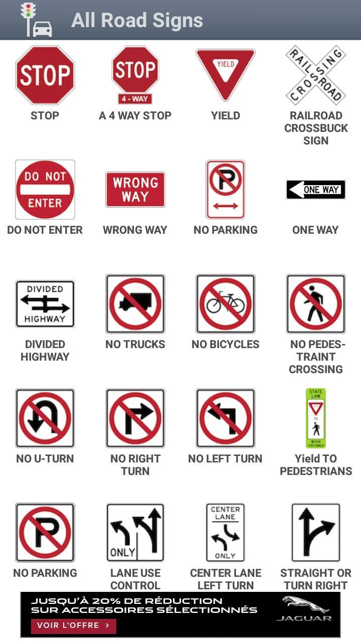 All Road Signs | Top New Car Release Date