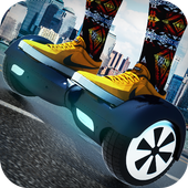 Traffic Hoverboard Subway 3D icon