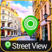 leven straat uitzicht kaartenroute vindernavigatie-icoon