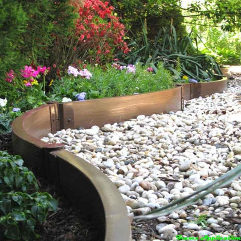 Diy Lawn Edging Ideas: DIY Garden Bed Edging Ideas Para Android