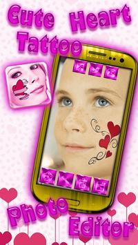 Cute Heart Tattoo Photo Editor poster