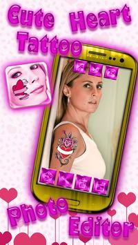 Cute Heart Tattoo Photo Editor screenshot 4