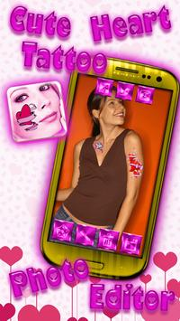 Cute Heart Tattoo Photo Editor screenshot 7