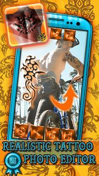Realistic Tattoo Photo Editor poster