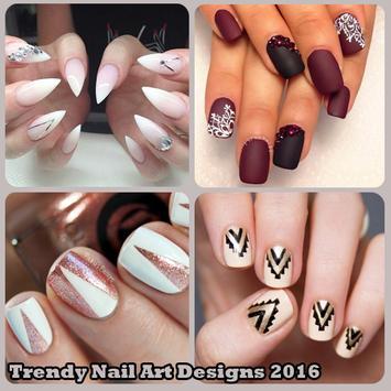 Trendy Nail Art Designs 2016 poster