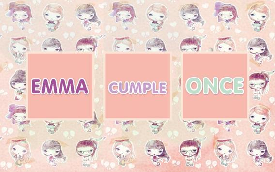 Memo Cumple Emma poster