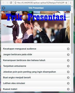 tricks Presentation apk screenshot