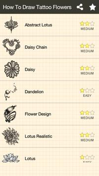 How To Draw Flowers Tattoo poster