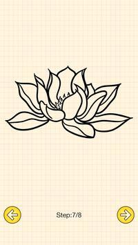 How To Draw Flowers Tattoo screenshot 4