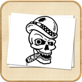 How To Draw Skull Tattoo icon