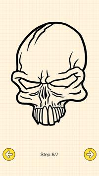 How To Draw Skull Tattoo screenshot 4
