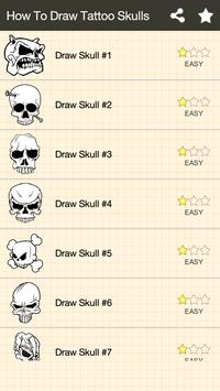 How To Draw Skull Tattoo poster