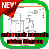 auto repair manuals wiring diagram icon