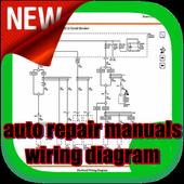 auto repair manuals wiring diagram icon
