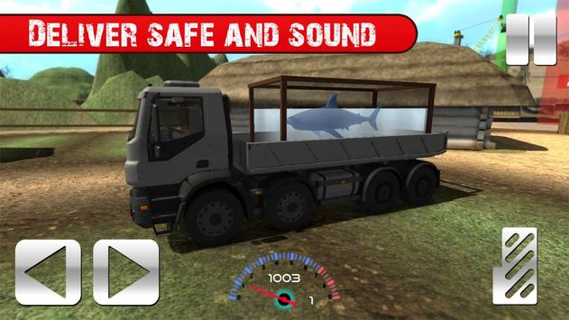 Truck with Shark Simulator 3D screenshot 2