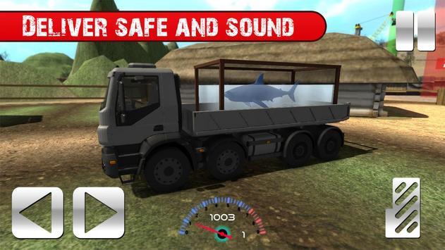 Truck with Shark Simulator 3D screenshot 5