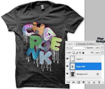 Tshirt 3D Design poster