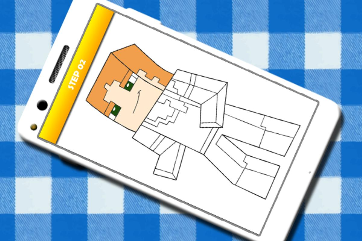 How To Draw And Color Minecraft All Characters For Android Apk