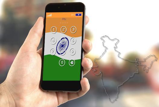 Indian Flag Pin Locker poster