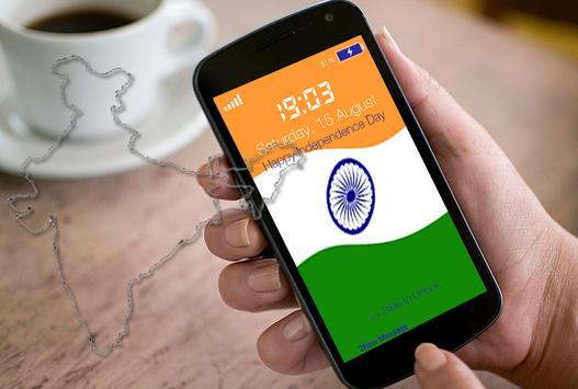 Indian Flag Pin Locker apk screenshot