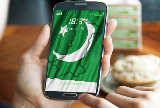 Pakistan Flag Pin Locker poster