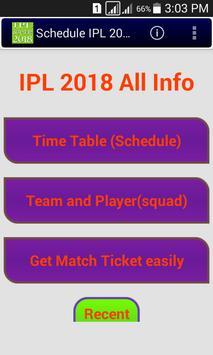 2018 Schedule of IPL poster
