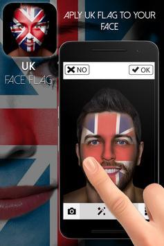 UK Face Flag-Face Masquerade poster