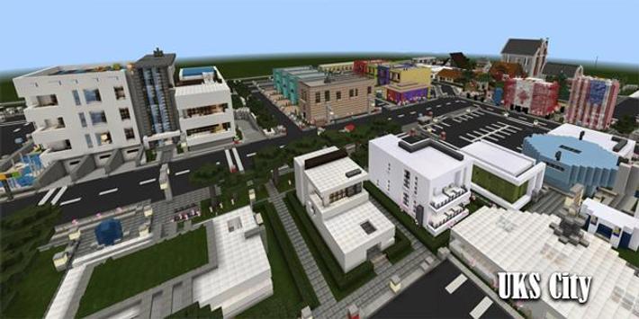 Map UKS City Minecraft poster